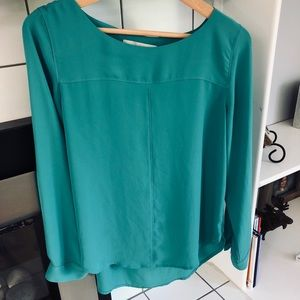 Loft small teal blouse